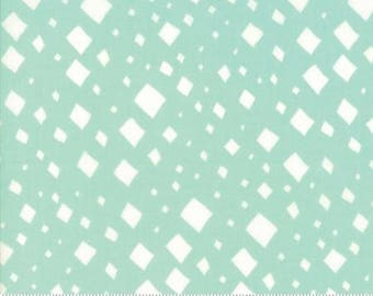 SALE!! 1 Yard Savannah by Gingiber for Moda- 48223-16 Diamonds Aqua
