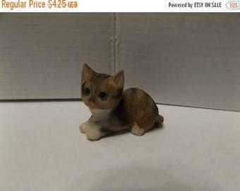 Sale Dollhouse Fairy Garden Animal Miniature Resin Mini Tabby  Cat