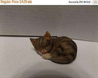 Sale Dollhouse Fairy Garden Animals Miniature Resin Sleeping Mini Cat