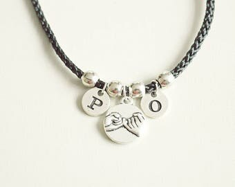 Couples bracelet, Pinky promise bracelet, Couples bracelet set, Lesbian girlfriend gift, Gay couple jewelry, Couple jewelry, Girlfriend gift