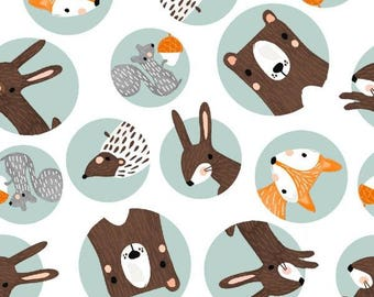 Forest Friends – Three Wishes – Animal Faces – Quilting Patchwork Fabric FQ
