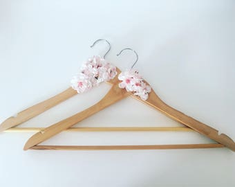 Pair of Hand Decorated Floral Hangers
