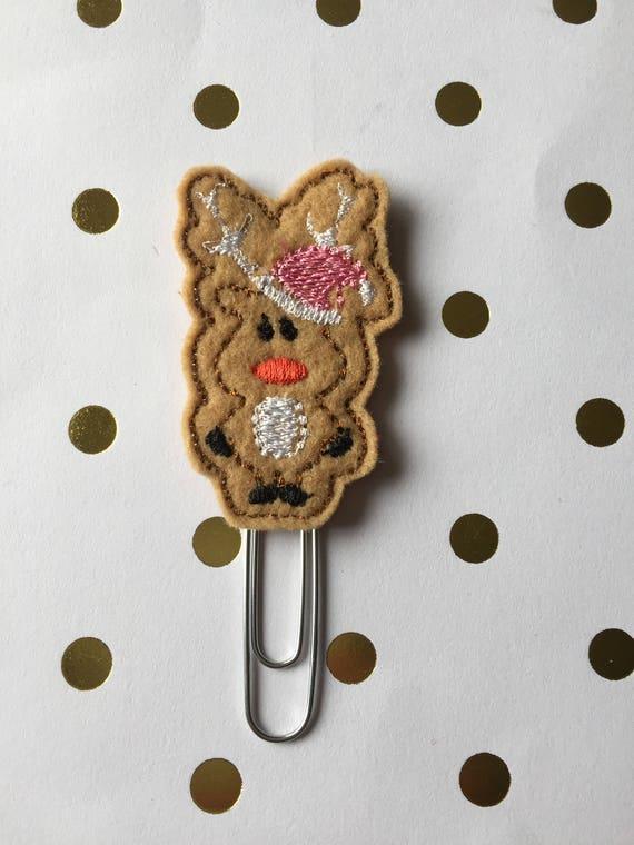 Standing Reindeer planner Clip/Planner Clip/Bookmark. Holiday Planner Clip. Christmas planner clip. Reindeer Planner clip