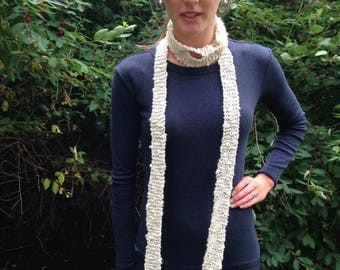 Long Skinny Scarf, Ultra Long Thin scarf, Boho scarf, Choker Scarf, FREE SHIPPING within the US