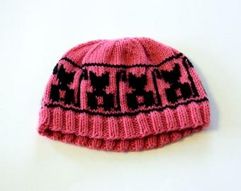 Warm Winter Hat - Warm Toque - Warm Ski Hat - Winter Toque - Kitty Hat - Child's Winter Toque - Knitted Hat - Ready to Ship