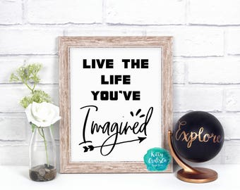 Typography Print, Quote Digital Print, Inspiring Life Quote Print, Printable Art, Home Decor, Calligraphy Print, Art Print, Instant Download
