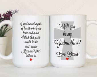 Will you be my Godmother, Godmother proposal, Godmother invitation, Ask Godmother, Godmother mug, Asking godmother, Godmother mug