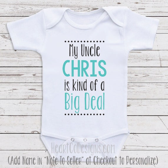 Personalized baby clothes my uncle is short or like this item negle Choice Image