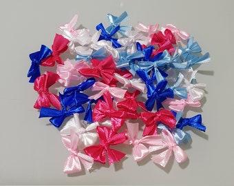 50 Ties Satin Multicolor ideal Scrap jewellery ribbons Crafts