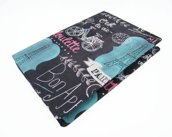 French and Paris inspired travel journal - also great for smash book or scrapbook