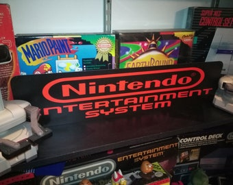"Nintendo Entertainment System Display, Aluminum Sign, 6""x24"", NES"