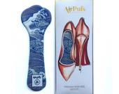 Silver-tipped Great Wave (Hiroshige) Airpufs High Heel Insoles