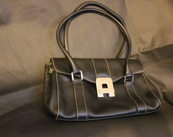 black leather vintage bag