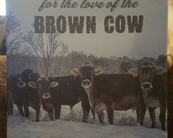 Brown Swiss Winter Canvas Wall Art