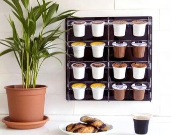 Keurig Storage Dispenser, K-Cup Holder, Coffee Pod Organizer, Magnetic Storage Unit, Wall Mount, Home Gift, Modern Design, Plexiglas Décor
