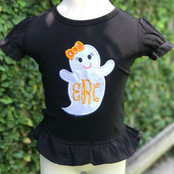 Girly Ghost Monogrammed Shirt