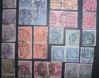 Lot of Interest - Official Stamps - German Empire - 85 Stamps - Circa 1920 - Dienstmarken - Briefmarken
