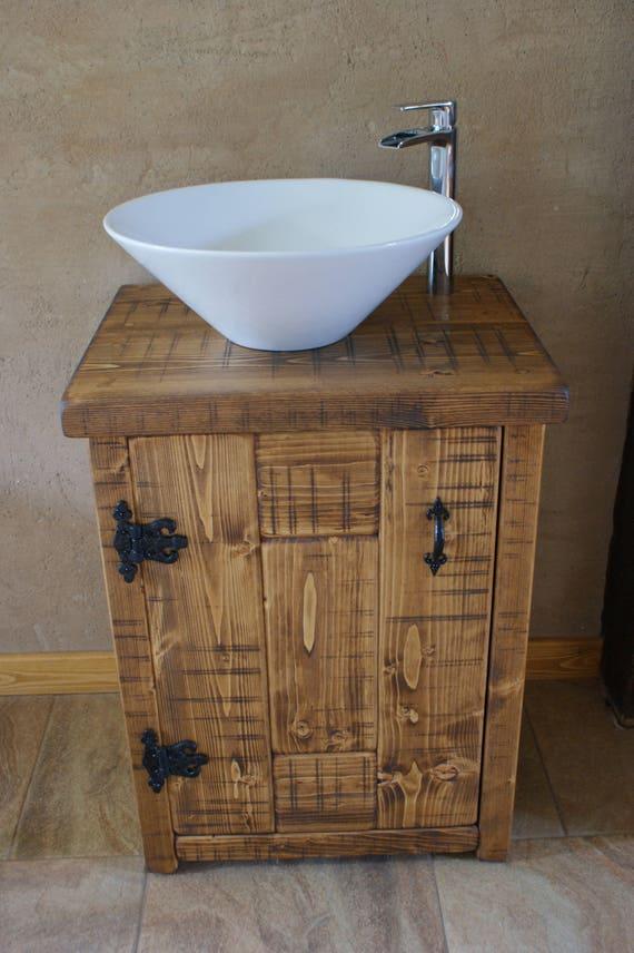 New Chunky Rustic Solid Wood Bathroom Basin Sink Vanity Wash