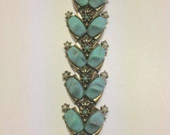 Nice Vintage Ornate Turquoise Bracelet