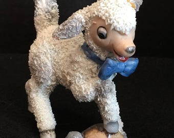 1930s German Snow baby Lamb and turtle