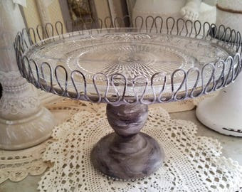 Shabby chic serving dish,