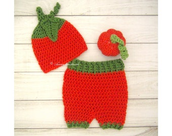 Crochet Pumpkin Costume, Baby Pumpkin Outfit, Baby Halloween Costume for Newborn to 12 Months, Pumpkin Hat and Pants,