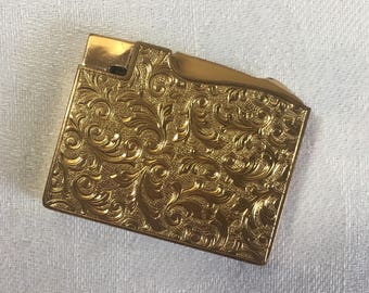 ELGIN AMERICA Ladies Cigarette Lighter 1923 to early 1960s, Gold Tone, Illinois Watch Case Company of Elgin, Collectible Useable Lighter