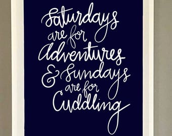 Instant Download_Adventures & Snuggling Print