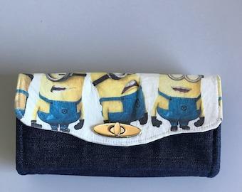 Minion wallet clutch purse