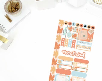 Autumn Memories Functional Stickers! Perfect for your Erin Condren Life Planner, calendar, Paper Plum, Filofax!