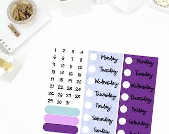 Glitzy Winter Date Cover Up Stickers! Perfect for your Erin Condren Life Planner, calendar, Paper Plum, Filofax!