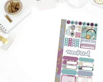 Staycation Personal Weekly Kit Stickers! Perfect for your Erin Condren Life Planner, calendar, Paper Plum, Filofax!
