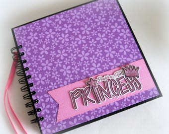 New OOAK Pretty Princess 7x7 premade mini scrapbook album ready for your pictures! n21