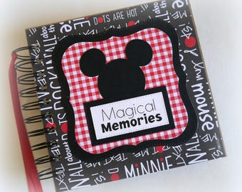 NEW Design Magical Memories Disney Autograph Book Scrapbook Travel Journal Vacation Photo Book bwrb6