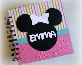 2018 80 pgs girly girl PERSONALIZED  Disney Autograph Book Scrapbook Use it as a Travel Journal Vacation Photo Book 1828