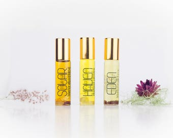 Combo - Any 3 Botanical perfumes - Gift set - EDEN | HAVEN | SOLAR - Natural fragrances -
