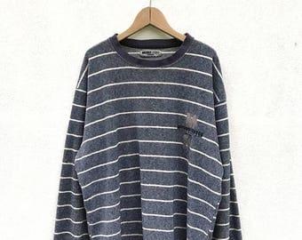 "20% OFF Vintage Michiko London Koshino Striped Pullover / Michiko Spell Out / Michiko Sweater / Armpit 25"""