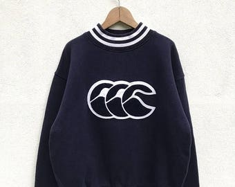 "20% OFF Vintage Canterbury Of New Zealand Big Logo Sweatshirt / Canterbury Rugby Sweater / Canterbury Crewneck / Armpit 22.5"""