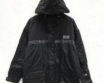 20% OFF Vintage Champion Hoodie Long Jacket / Champion Sport Jacket / Champion Zipper Jacket / Sportwear