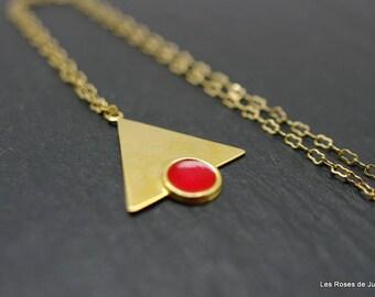 graphic pendant triangle, triangle pendant