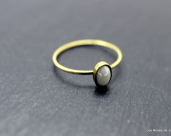 Mini bronze oval ring t.53, ring