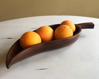 Hand Carved Mahogany Wood Decorative Bowl