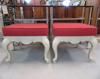 Pair of French Provencal Vintage Benches