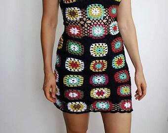Festival summer dress,Crochet dress, Party dress