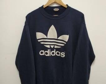 Rare Vintage adidas Sweatshirt Big Logo Size M