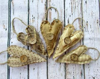 5 primitive ornaments, christmas ornaments, primitives, primitive christmas, ornaments, primitive, heart ornaments, home decor, trending