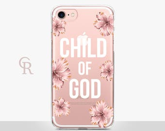 God Phone Case - Clear Case - For iPhone 8 - iPhone X - iPhone 7 Plus - iPhone 6 - iPhone 6S - iPhone SE Transparent - Samsung S8 Plus