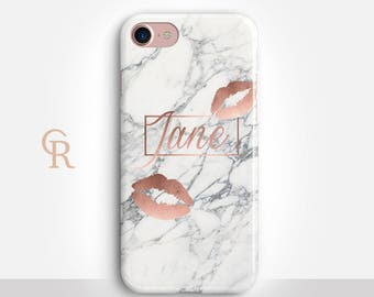 Custom Rose Gold Phone Case For iPhone 8 iPhone 8 Plus iPhone X Phone 7 Plus iPhone 6 iPhone 6S  iPhone SE Samsung S8 iPhone 5 Marble Cover