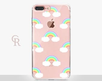 Rainbows Clear Phone Case For iPhone 8 iPhone 8 Plus iPhone X Phone 7 Plus iPhone 6 iPhone 6S  iPhone SE Samsung S8 iPhone 5 Transparent