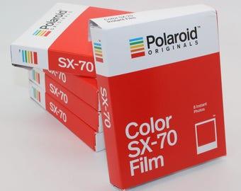 Impossible Project Polaroid Originals Colour / Color Instant Film for Polaroid SX-70 Cameras - Brand-new 2017 Stock - Classic White Frame